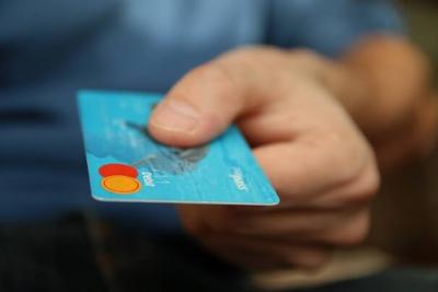 Foto einer Kreditkarte